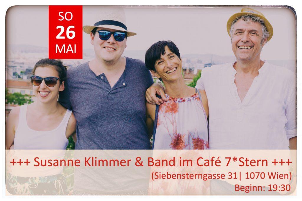 SONNTAG, 26. Mai: LIVE im Café 7Stern